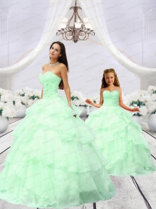 Exclusive Beading and Ruching Princesita Dress in Apple Green for 2015