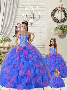 Organza Appliques Princesita Dress with Beading and Ruffles