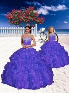 Most Popular Purple Princesita Dress with Appliques and Beading for 2015