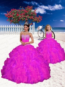 Top Seller Appliques and Beading Fuchsia Princesita Dress for 2015