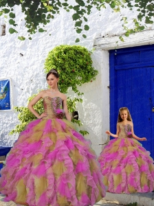 2015 Discount Multi-color Princesita Dress with Beading and Ruffles