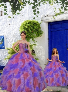 2015 Wonderful Multi-color Princesita Dress with Beading and Ruffles