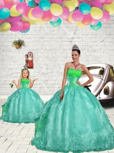 Exquisite Beading and Embroidery Princesita Dress in Apple Green for 2015