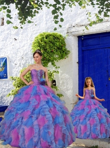 Most Popular Beading and Ruffles Multi-color Princesita Dress for 2015