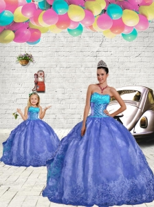 Most Popular Blue Princesita Dres with Beading and Embroidery for 2015