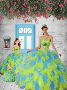 Classical Appliques and Ruffles Multi-color Princesita Dress