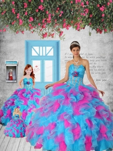 Multi-color Appliques and Ruffles Princesita Dress for 2014 Party
