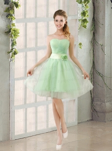 A Line Sweetheart Lace Up Prom Dresses in Apple Green