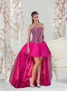Detachable and Brand New High Low Prom Dress for 2015