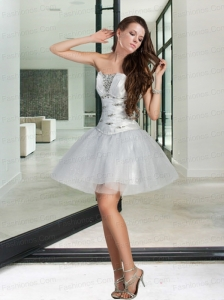 New Style Appliques and Ruffles White Prom Dresses For 2015