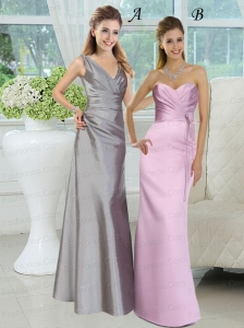 2015 Popular Floor Length Prom Dresses with Ruching