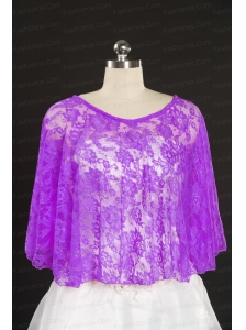 Beautiful Beading Lace Hot Sale Wraps in Fuchsia