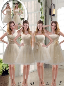 Elegant Princess Mini Length Lace Prom Dress with Bowknot