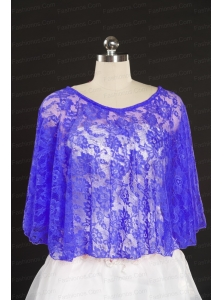 Lace Hot Sale 2014 Purple Wraps with Beading