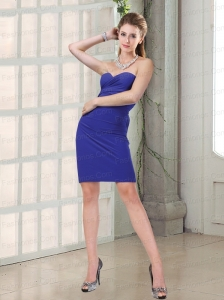 New Arrival Ruched Mini Length Column Prom Dresses