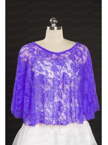 Purple Beading Lace Hot Sale Wraps for 2014