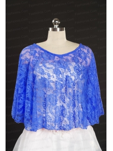 Royal Blue Beading Lace Hot Sale Wraps for 2014