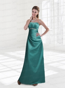 Strapless Column 2015 Prom Dresses  Beading and Ruching