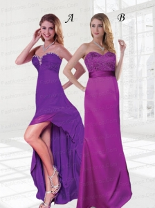 Sweetheart Asymmetrical  Column Elegent Prom Dresses For 2015