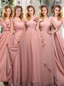 Empire Ruching 2015 Sturning Prom Dresses in Peach
