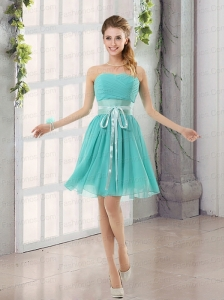 Perfect Belt Ruching Sweetheart A LineProm Dress for 2015