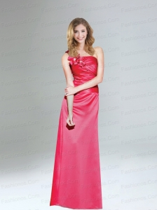 2015 New Arrival One Shoulder Column Prom Dress