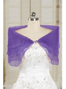 2014 New Style Beading Lavender Shawls for Party