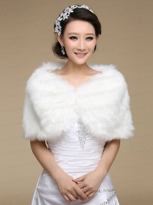 Exquisite Faux Fur White Wraps for 2015