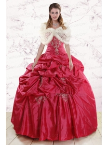 New Style Strapless Appliques Quinceanera Dresses