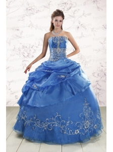 Appliques Exclusive Royal Blue Quinceanera Dresses For 2015