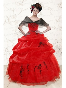 Perfect Sweetheart Red Quinceanera Dresses for 2015