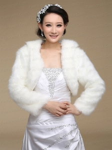 2015 White Rabbit Fur Shawls with Long Sleeves