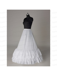 Affordable Organza Floor-length Wedding Petticoat in White