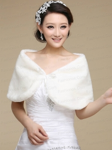 Faux Fur Open Front Shawls for Wedding Party