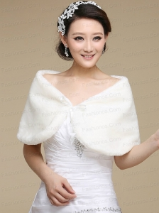 Formal Faux Fur White Wraps for 2015