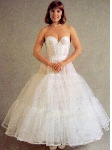 Trendy Organza Ball Gown Ankle-length White Petticoat
