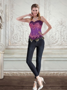 The Most Popular Multi Color Corset with Beading and Ruffles