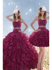 Perfect Beading and Ruffles Quinceanera Dresses with Floor Length
