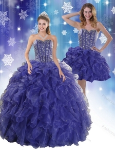 The Most Popular Royal Bule Quinceanera Dresses with Beading and Ruffles