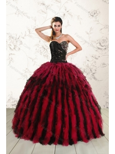 Fashionable Multi Color Sweet 16 Dresses with Beading and Ruffles
