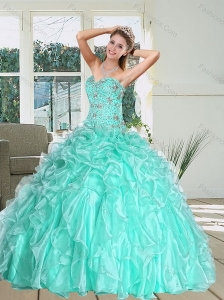 Romantic Sweetheart Quinceanera Dress with Appliques and Ruffles