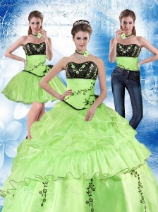 2015 Gorgeous Strapless 2015 Quinceanera Dress in Spring Green