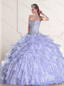 Brand New Sweetheart Quinceanera Dress with Beading and Ruffles for 2015