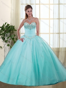 Affordable Sweetheart Quinceanera Dresses with Beading and Appliques
