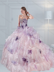Fashionable 2015 Sweetheart Quinceanera Dresses in Multi Color with Ruffles and
