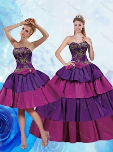Remarkable 2015 Sweetheart Multi Color Quinceanera Dresses with Bowknot