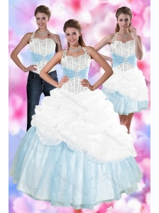 2015 Multi Color Quince Dresses with Pick Ups and Beading