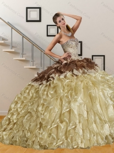 Beautiful Sweetheart Multi Color Quinceanera Dresses with Embroidery and Ruffles