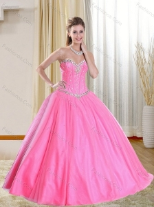 Pretty Beadings 2015 Quinceanera Dress in Pink