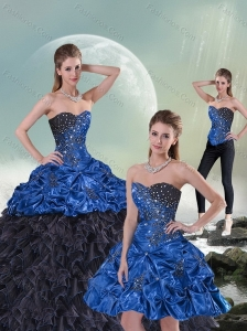 2015 New Style Beading and Pick Ups Sweet 15 Dress in Multi Color